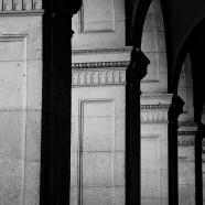 Barcelona Pillars BW