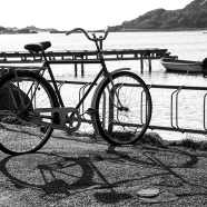 Bicycle in the Bay BW