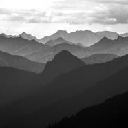 Blaue Berge BW