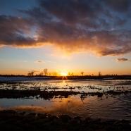 Icy Sunset Panorama