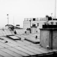 Parisian Rooftops BW