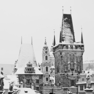 Prague Rooftops BW